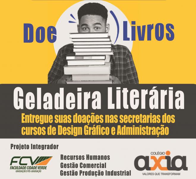Campanha Geladeira Literária promove literatura ao alcance de todos