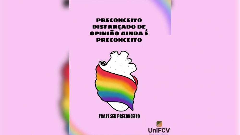 Alunos da UniFCV produzem cartazes temáticos