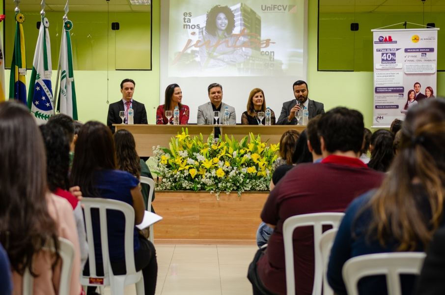 Começou a II Semana Jurídica para os acadêmicos de direito da UniFCV