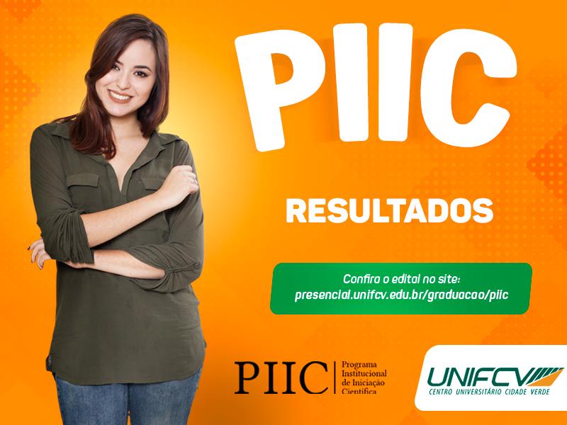 Divulgado os resultados das bolsas do PIIC 2019