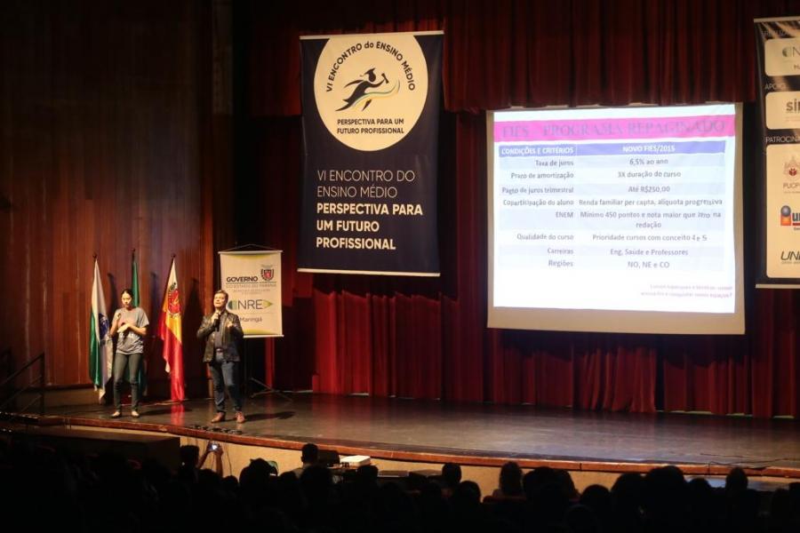 Reitor da UNIFCV palestrou no VI Encontro do Ensino Médio