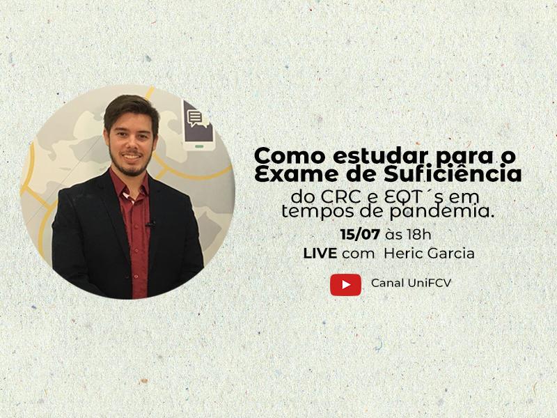 Live: Como estudar para o Exame de Suficiência do CRC e EQT´s em tempos de pandemia