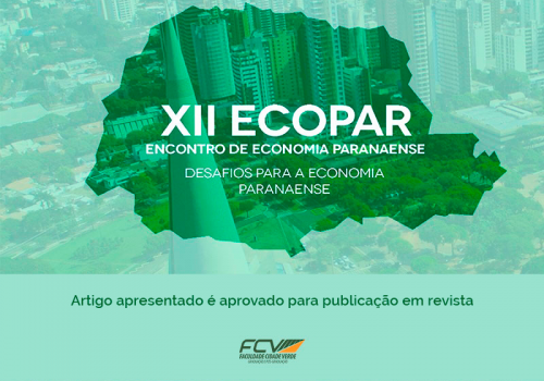 Artigo de aluna de Economia é aprovado pela revista Brazilian Applied Science Review