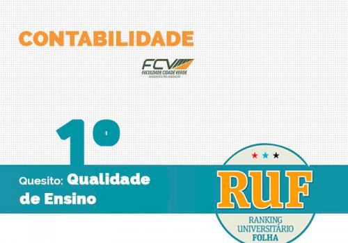 RUF 2017 classifica curso como o de melhor qualidade entre faculdades de Maringá