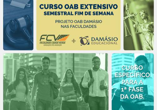 Exame da OAB: FCV terá curso preparatório em parceria com Damásio