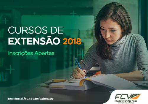 Inscrições já abertas para cursos de extensão de 2018