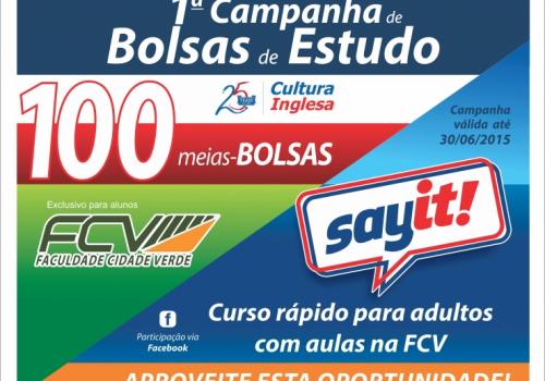 Parceria entre FCV e Cultura Inglesa oferece 100 meias-bolsas em cursos de Inglês