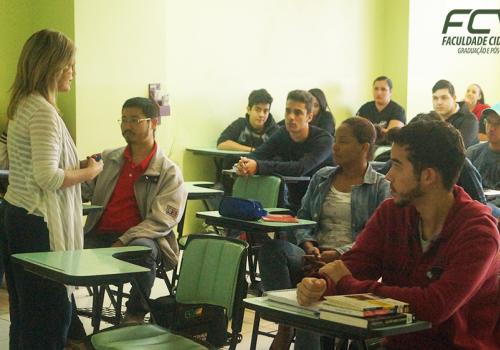 Começaram hoje as aulas de nivelamento da FCV