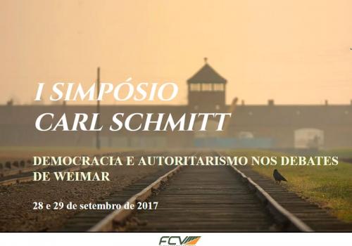I Simpósio Carl Schmitt acontecerá em setembro na FCV