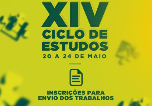 Ciclo de Estudos: inscrições para envio de trabalhos