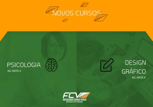 FCV lança dois novos cursos, ambos com nota 4
