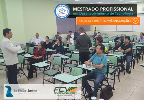 FCV apresenta mestrado para alunos inscritos