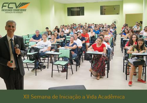 Palestra reúne três cursos no segundo dia de aula na FCV