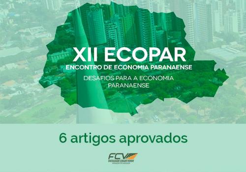 6 dos 98 artigos aprovados para o Ecopar são de alunos FCV