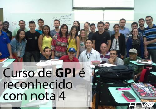Curso de GPI é reconhecido com nota 4