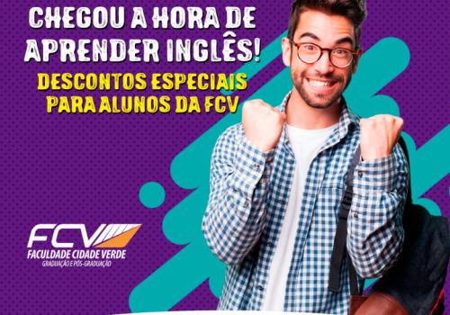 Matrículas abertas para curso de inglês e com desconto para alunos FCV