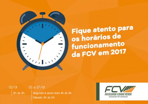 FCV terá novos horários de atendimento durante as férias