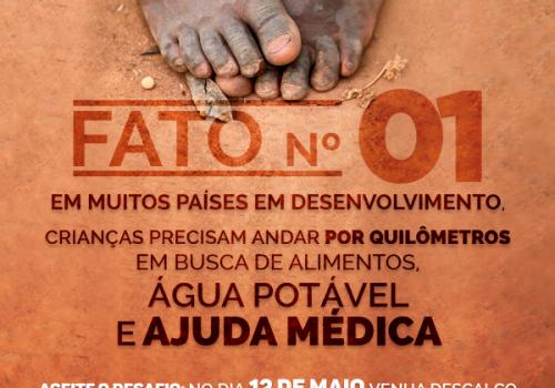 Dia Descalço: proposta é sentir na pele o peso da desigualdade social