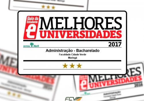 Administração: curso mantém classificação no Guia do Estudante