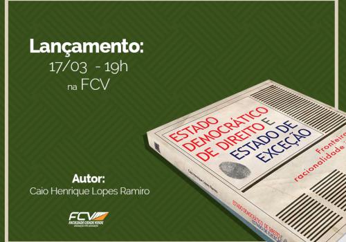 Professor da FCV lança livro de Direito