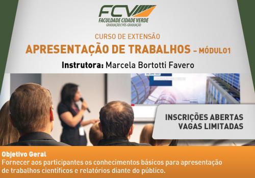 FCV promove curso de apresentação de trabalho para acadêmicos