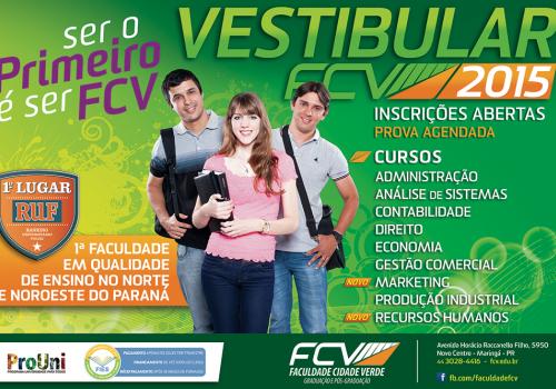 Vestibular Agendado da FCV está com as inscrições abertas