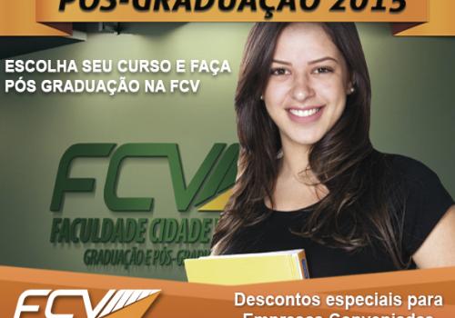 FCV está com as inscrições abertas para Pós-Graduação