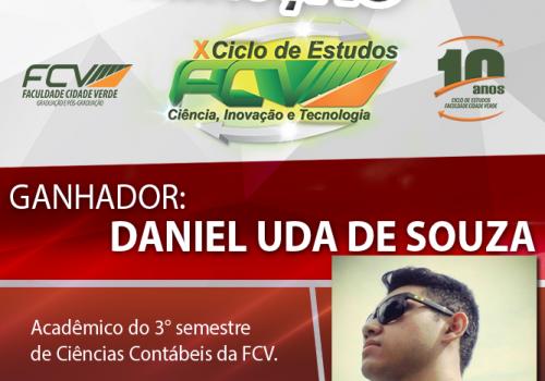 """Daniel Uda é o ganhador da promoção """"X Ciclo de Estudos"""""""