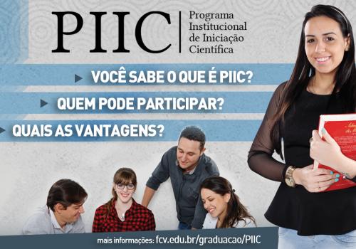 Inscrições para o PIIC estão abertas