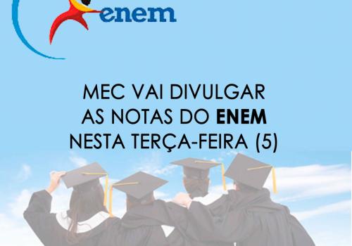 MEC divulga notas do Enem nesta terça (13)