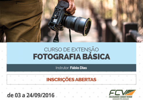 Inscrições abertas para curso de extensão em fotografia