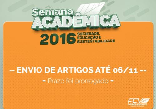 Prorrogado prazo para envio de trabalhos a serem apresentados na Semana Acadêmica