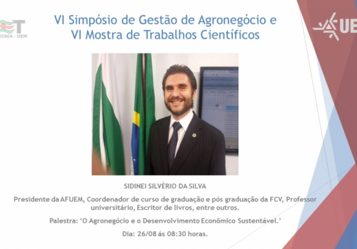 Coordenador de Economia será um dos palestrantes do VI Simpósio de Gestão do Agronegócio