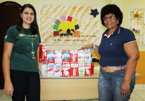 UNIFCV realiza a doação de leite para à ONG Casa da Criança
