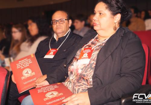 Alunos representam FCV na palestra de Sergio Moro