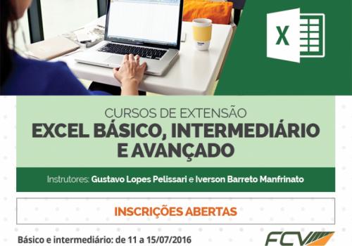 Excel, do básico ao avançado, é tema de curso de extensão