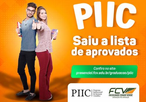 PIIC divulga edital dos projetos aprovados