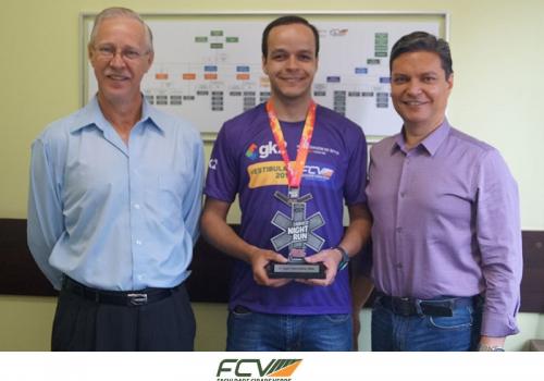 Colaborador participa de corrida com apoio da FCV