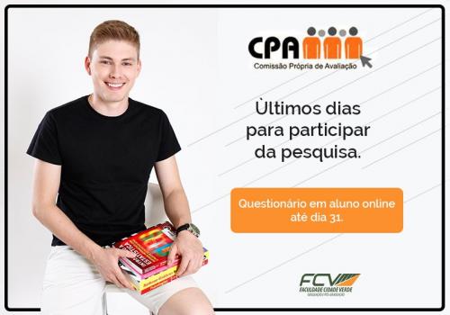 CPA: autoavaliação termina na segunda
