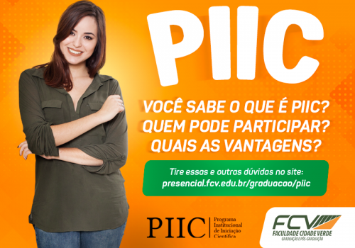 Inscrições para o PIIC serão abertas em abril