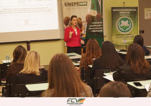 Sinepe reúne instituições de ensino na FCV para falar de educação especial