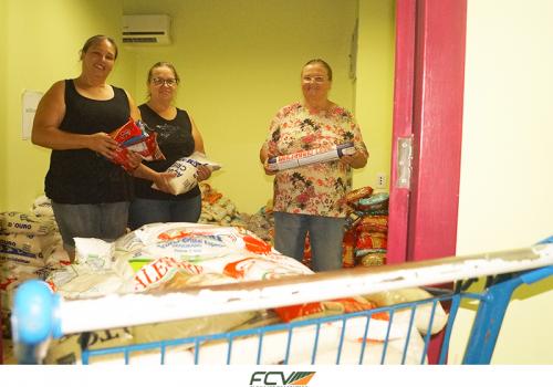 Direito: alimentos doados são entregues à entidades assistências