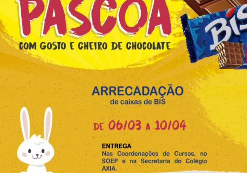 Chocolates já podem ser doados para campanha de Páscoa