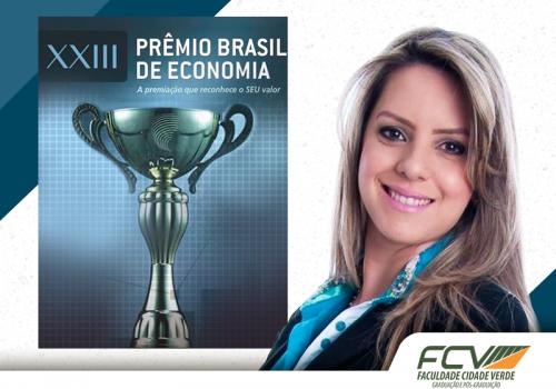Professora FCV ganha Prêmio Brasil de Economia