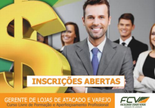FCV oferece curso de Gerente de Lojas de Atacado e Varejo